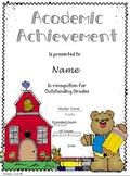 Academic Achievement Award Certificate