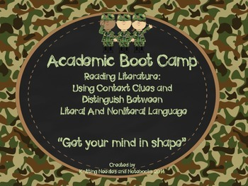 Academic Boot Camp: Reading Literature: Context Clues and
