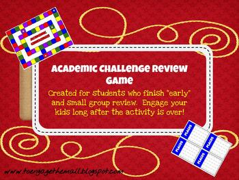 "Academic Challenge Game: Engage ""Early Finishers"""