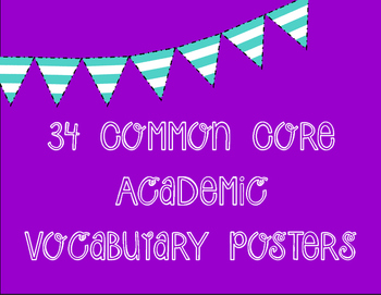 """Academic """"Critical Verbs"""" Vocabulary Posters"""