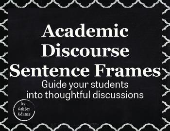 Academic Discourse Sentence Frames *Full Version*