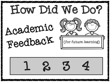 Academic Feedback Forms for Literature Circles and Group A
