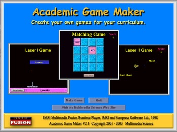 Teacher Tools - Academic Game Player Software - Sample Game