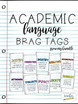 Academic Language Brag Tags