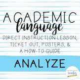 Academic Language Lesson {Analyze}