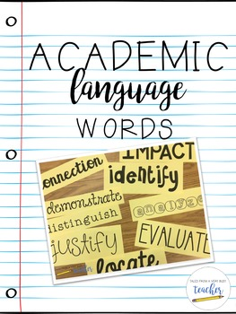 Academic Language Words