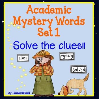 Academic Mystery Words Set 1