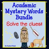 Academic Vocabulary Mystery Words Bundle!