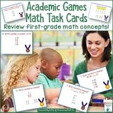 Academic Summer Games Math Task Cards