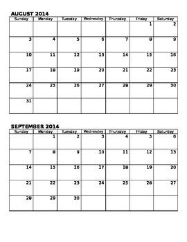 Academic Planner 2014-2015