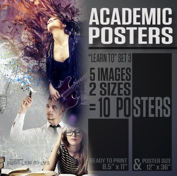 """Academic Posters (""""Learn To"""" Series 3)"""