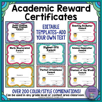Academic Reward Certificates