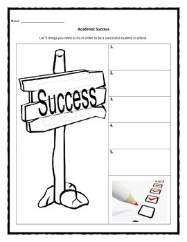 Academic Success worksheet
