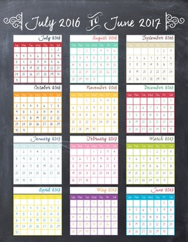 FULL COLOR Academic Teacher Planner- 3 Section Weekly View
