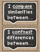 Academic Tier 2 Vocabulary Sentence Frames Burlap Chalkboard