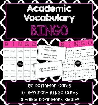 Academic Vocabulary BINGO Game