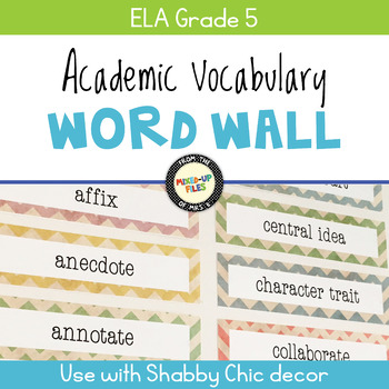 Academic Vocabulary Word Wall ELA 5th Grade