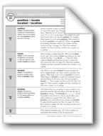 Academic Vocabulary, Grade 2: position, locate, located, location