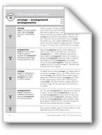 Academic Vocabulary, Grade 3: arrange, arrangement, arrangements