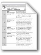 Academic Vocabulary, Grade 3: assist, assistance, cooperat