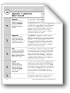Academic Vocabulary, Grade 6+: objective, subjective, bias