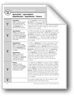 Academic Vocabulary, Grade 6+: speculate, speculation, hyp