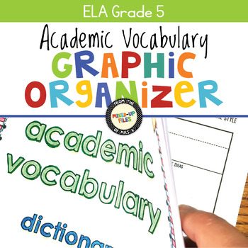 Academic Vocabulary Graphic Organizer ELA Fifth Grade