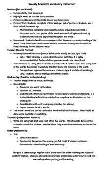 Academic Vocabulary Instruction