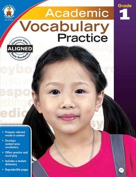 Academic Vocabulary Practice Grade 1 SALE 20% OFF! 104806