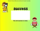 Academic Vocabulary SMART file Success (Treasures)