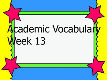 Grade 3 Academic Vocabulary Set 13 Promethean Flipchart