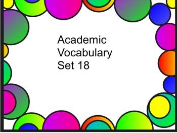 Grade 3 Academic Vocabulary Set 18 Promethean Flipchart