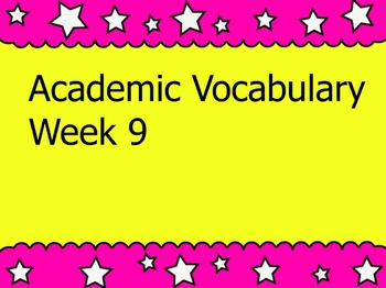 Grade 3 Academic Vocabulary Set 9 Promethean Flipchart
