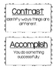 Academic Vocabulary cards for Marzano