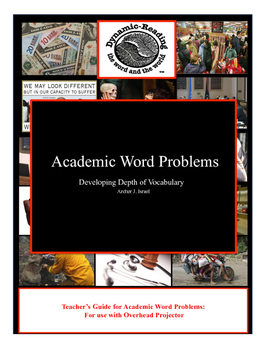 Teacher's Guide to Academic Word Problems-Developing Acade