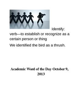 Academic Vocabulary Word Wall