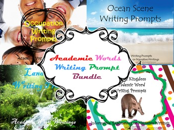 Academic Words Writing Prompt Bundle