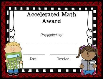 Accelerated Math Award for Any Grade