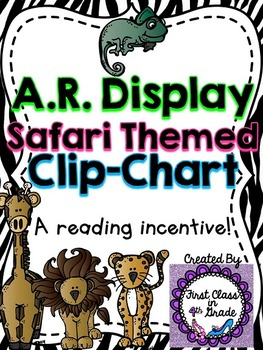 Accelerated Reader (AR) Percent Display Safari Clip-Chart