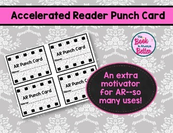 Accelerated Reader (AR) Punch Card