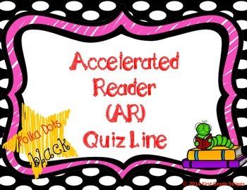 Accelerated Reader (AR) Quiz Line-Polka Dots Theme-Black