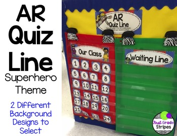Accelerated Reader (AR) Quiz Line-Superhero Theme