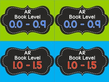 Accelerated Reader Book Basket Labels - Blue and Green
