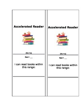Accelerated Reader Bookmarks