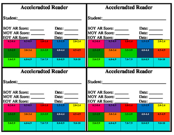 Accelerated Reader Cards (AR)