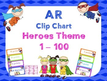 Accelerated Reader Clip Chart - Heroes Theme