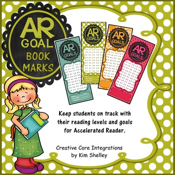 Accelerated Reader Level and Goal Bookmarks for the Year