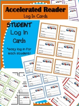 Accelerated Reader Log In Cards (AR)