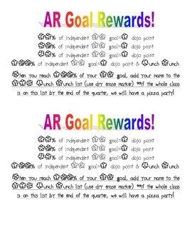 Accelerated Reader Reward Poster
