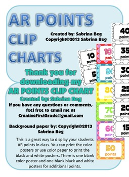 Accelerated Reading Clip Chart